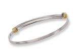 Petite Signature Bracelet by E.L. Designs in Sterling Silver and 14K wraps.