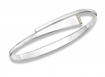 """Sashay Sparkle Bracelet by E.L. Designs in Sterling & 14K """"bar"""" with three 1.75mm diamonds (H, SI1, 0.06tcw)"""