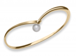 Polka Bracelet by E.L. Designs in 14K Gold with Pearl