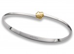 """Petite Love Knot Bracelet by E.L. Designs in Sterling Silver with 14K Gold """"knot"""""""
