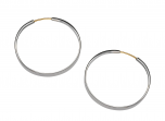 Classic Forged Hoop Earring by E.L. Designs in Sterling Silver (large, xtra large)