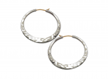 Hand Hammered Hoop Earrings by E.L. Designs in Sterling Silver