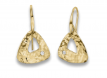 Trillium Earrings by E.L. Designs in 14K Gold with 1.7mm diamonds