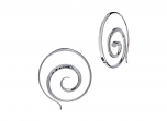 Crop Circle Earrings by E.L. Designs in Sterling Silver