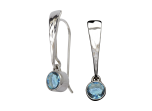 Excitement! Earrings by E.L. Designs in Sterling Silver with Blue Topaz
