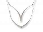 Glimmer Swing Necklace by E.L. Designs in Sterling Silver (shown both ways)