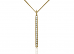 Sparkler Pendant by E.L. Designs in 14K Gold with 15 channel-set diamonds