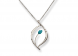 Jonquil Pendant by E.L. Designs in Sterling Silver with Turquoise