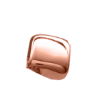 14K Rose Gold Cube Accent