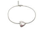 Trillium Anklet by E.L. Designs in Sterling Silver with Pink Sapphire