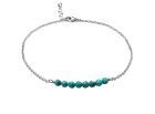 Gypsy Anklet by E.L. Designs in Sterling Silver with Turquoise.