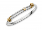 Rockstar Bracelet by E.L. Designs in Sterling Silver with 14K wraps, 14K star, and diamond
