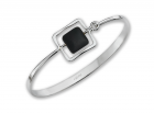 Zenith Bracelet by E.L. Designs in Sterling Silver with Black Onyx