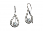 Mana Earrings by E.L. Designs in Sterling Silver with Pearls