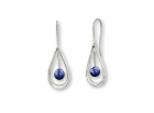 Cachet Earrings in Sterling Silver with Lapis by E.L. Designs