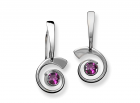 Nautilus Earring by E.L. Designs in Sterling Silver with Amethyst