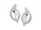 Jonquil Earrings by E.L. Designs in Sterling Silver with Turquoise