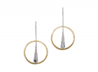 Wishful Earring by E.L. Designs in Sterling Silver with 14K Gold overlay disc