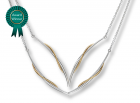 Vineyard Swing Necklace by E.L. Designs in Sterling Silver & 14K Gold