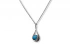 Captivating Pendant by E.L. Designs in Sterling Silver with Turquoise