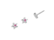Twinkle Earrings by E.L. Designs in Sterling Silver with Pink Sapphires