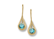 Desire Earring by E.L. Designs in 14K gold with Blue Topaz