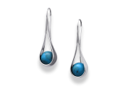 Captivating Earring by E.L. Designs in Sterling Silver with Turquoise
