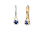Captivating Swing Earring in 14K Gold with Lapis