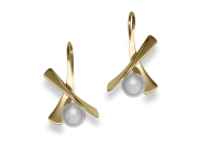 Minuet earrings by E.L. Designs in 14K gold with Pearls