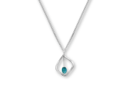 Highlight Pendant by E.L. Designs in Sterling Silver with Turquoise