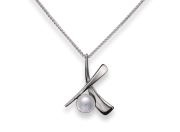 Minuet Pendant by E.L. Designs in Sterling Silver with Pearl