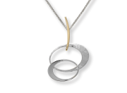 Entwined Elegance Pendant by E.L. Designs in Sterling Silver & 14K Gold Overlay