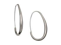 Oval Hoops by E.L. Designs in Sterling Silver