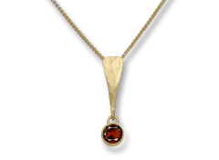 Excitement! Pendant by E.L. Designs in 14K Gold with Garnet