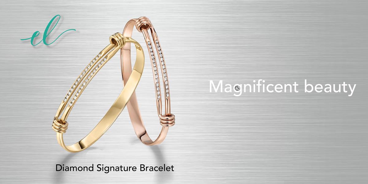 Diamond Signature Bracelet by E.L. Designs