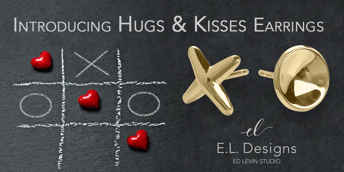 Hugs & Kisses Earrings - New Design by E.L. Designs