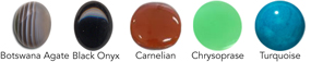 10x8mm cabochon options for PE250