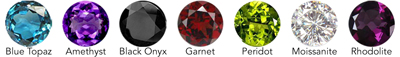 6mm Faceted Gemstone Options for EA389